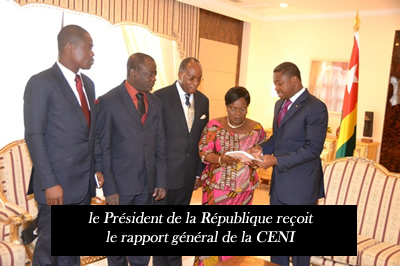 l gislatives 2013 le pr sident de la r publique re oit le rapport g n ral de la ceni ceni togo. Black Bedroom Furniture Sets. Home Design Ideas